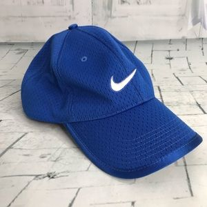 Nike Just Do It swoosh blue baseball cap